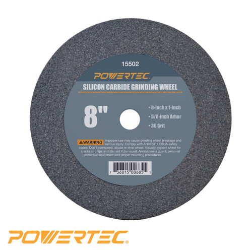 """Silicon Carbide Grinding Wheel 8"""" by 1"""" Disc with 5/8"""" Arbor (more choices)"""