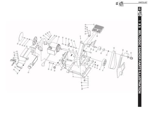 KEY#30 BD1500030 Belt tracking bolt M10x30