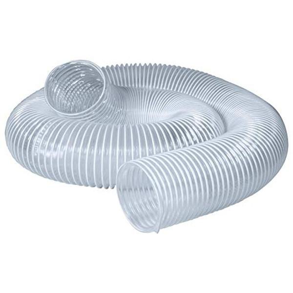 "70239 Flexible PVC Dust Collection Hose 6"" x 5-Feet, Clear Color"