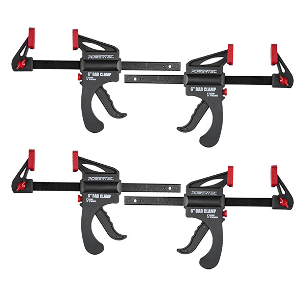 "71088P4 Ratcheting Bar Clamp, 6"" Quick Release Bar Clamp with 12"" Spreader-4 PK"