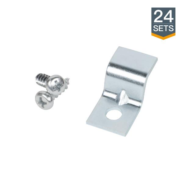 """71580 Steel Gauge Table Top Fasteners(1-1/4""""x 5/8"""") w/Screws-24 pack"""