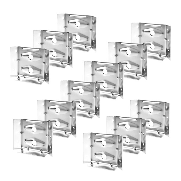 71699 Surface Mount Corner Brackets for Table Aprons, 12PK