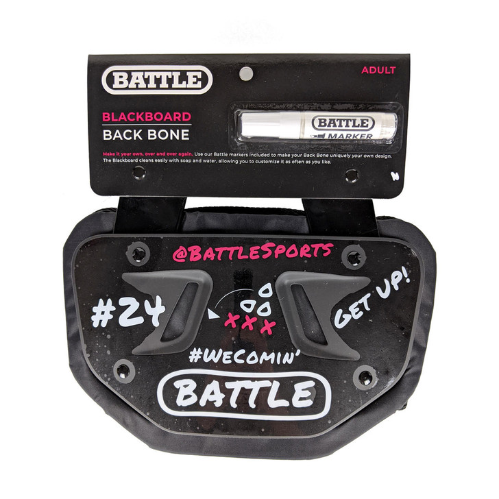 Battle Sports Blackboard Football Back Plate - Adult and Youth