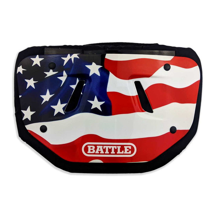 Battle Sports American Flag 2.0 Chrome Football Back Plate - Adult and Youth