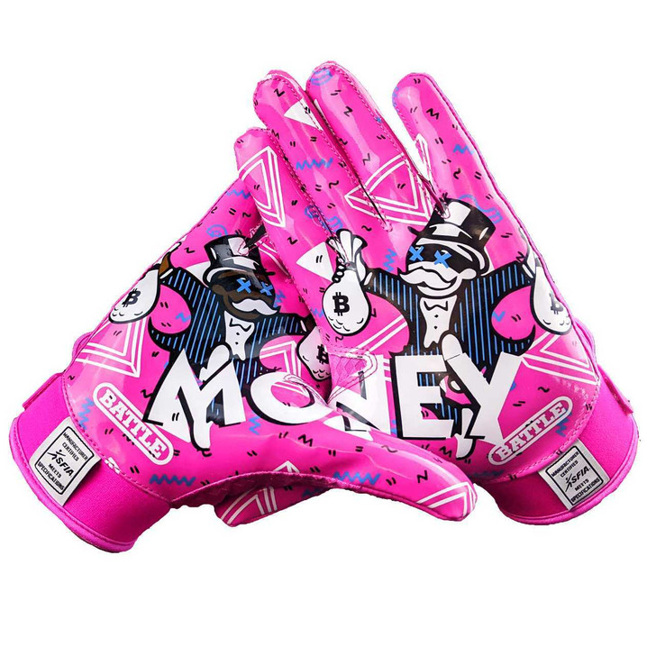Battle Sports Money Man 2.0 Football Receiver Gloves - Adult and Youth