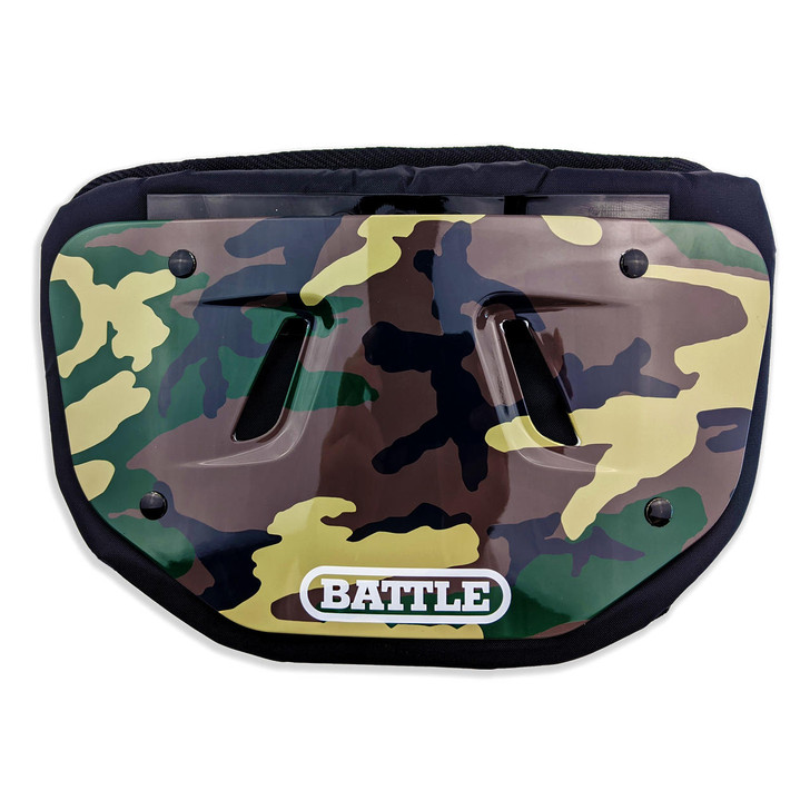 Battle Sports Camouflage Chrome Football Back Plate - Adult and Youth