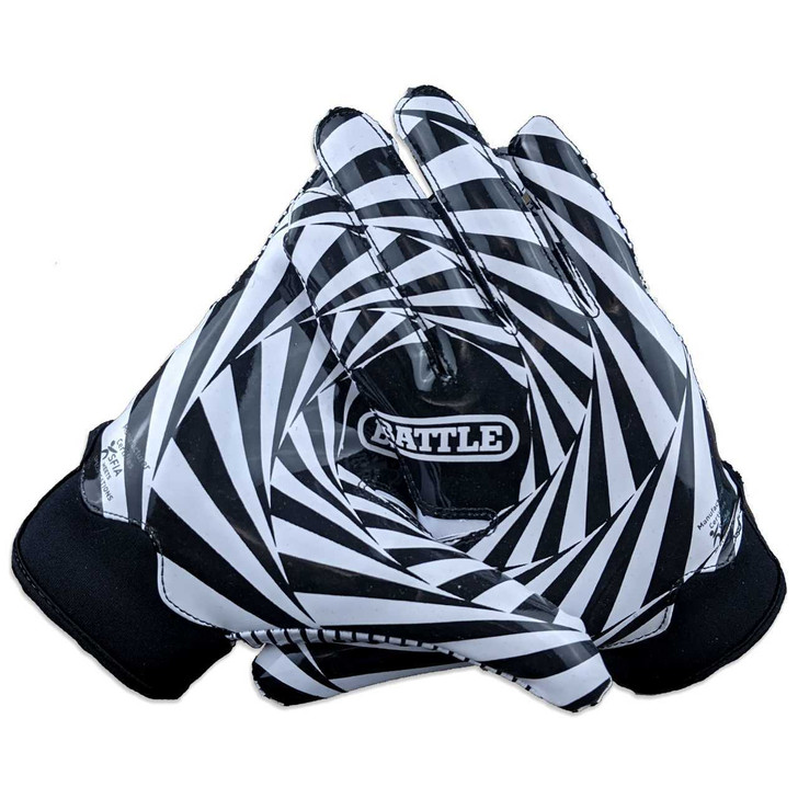 Battle Sports Kaleidoscope Doom 1.0 Football Receiver Gloves - Adult and Youth