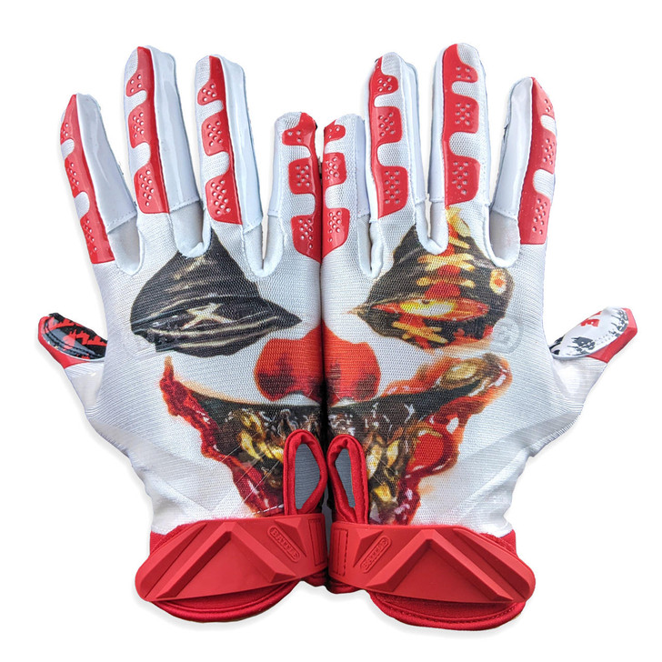 Battle Sports Krazy Klown Cloaked Receiver Gloves - Adult