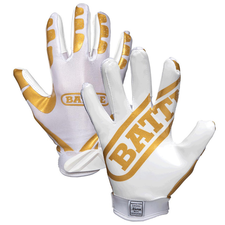 Battle Sports Ultra-Stick Football Receiver Gloves - Adult and Youth