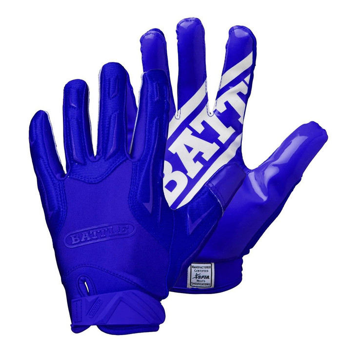 Battle Sports Hybrid Football Receiver Gloves - Adult