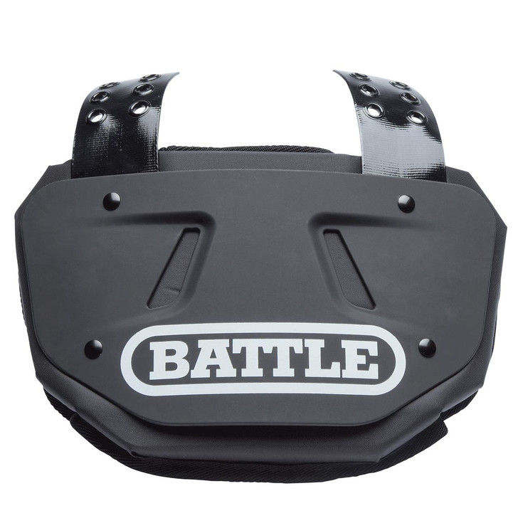 Battle Sports Black Football Back Plate - Adult and Youth