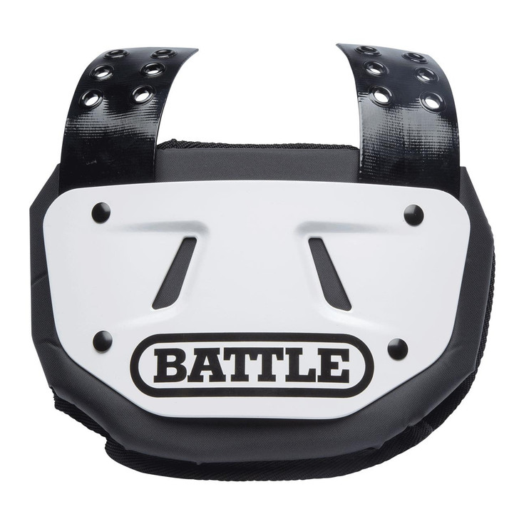Battle Sports White Football Back Plate - Adult and Youth
