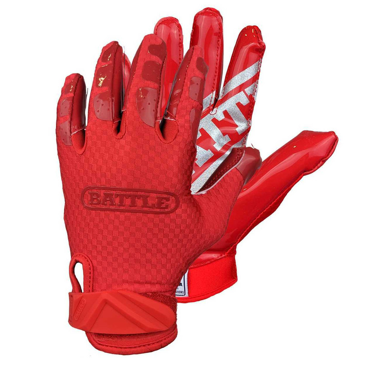 Battle Sports Triple Threat Football Receiver Gloves- Adult and Youth