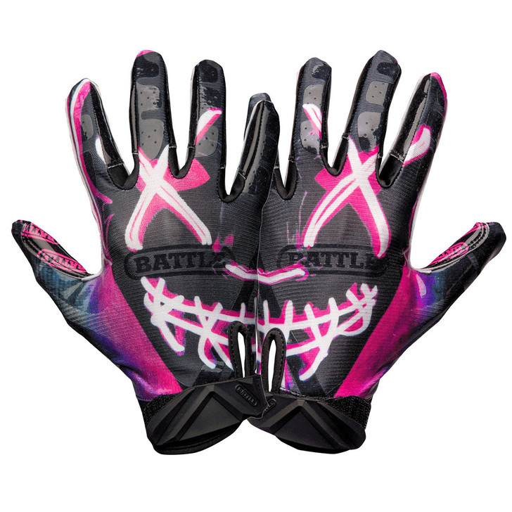 Battle Sports Nightmare Cloaked Receiver Gloves - Adult