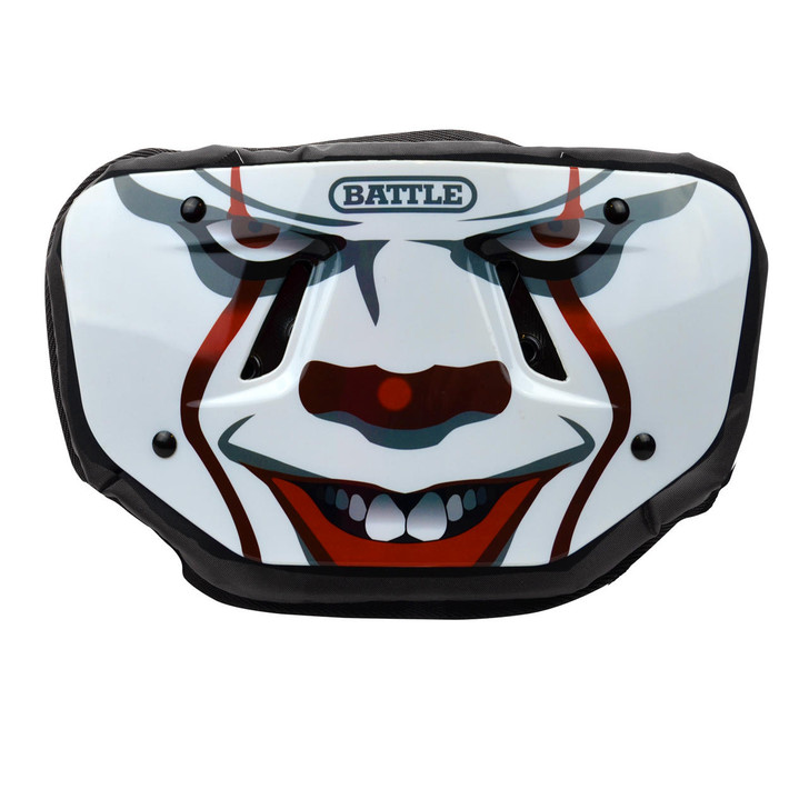 Battle Sports Clown Chrome Football Back Plate - Adult and Youth