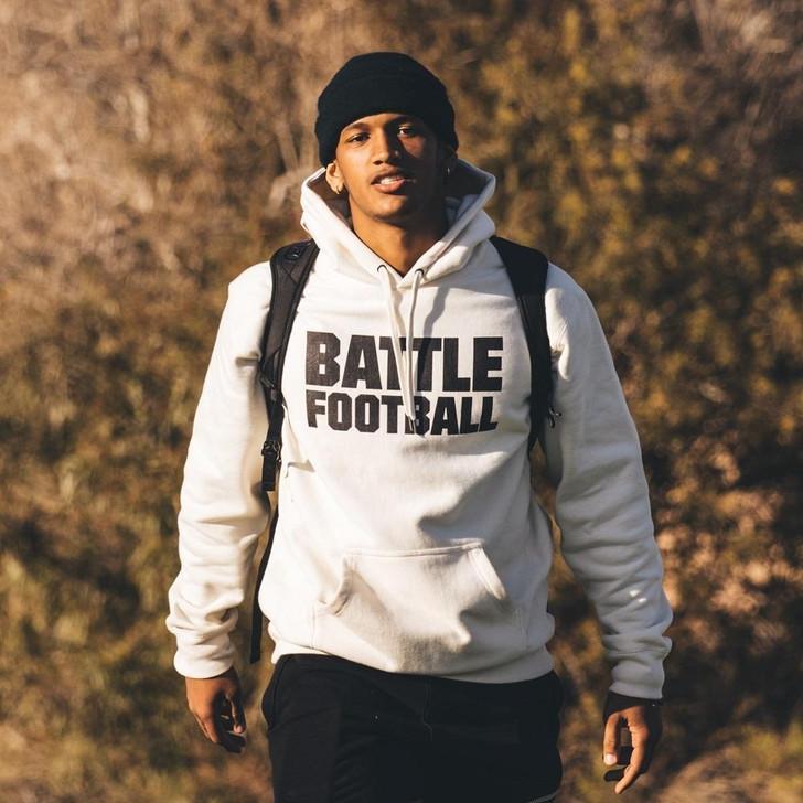 Battle Sports Battle Football - Premium Heavyweight Hoodie - Adult
