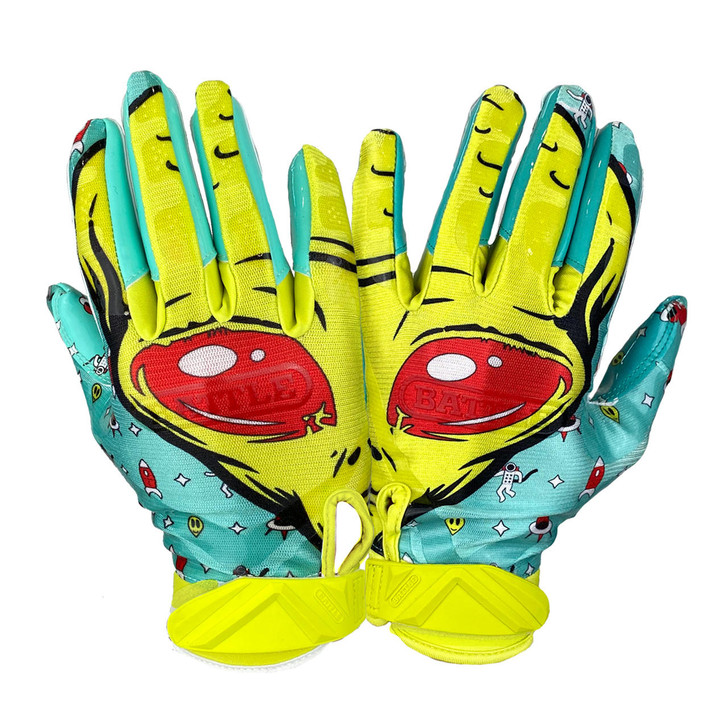 Battle Sports Alien Cloaked Receiver Gloves - Adult and Youth