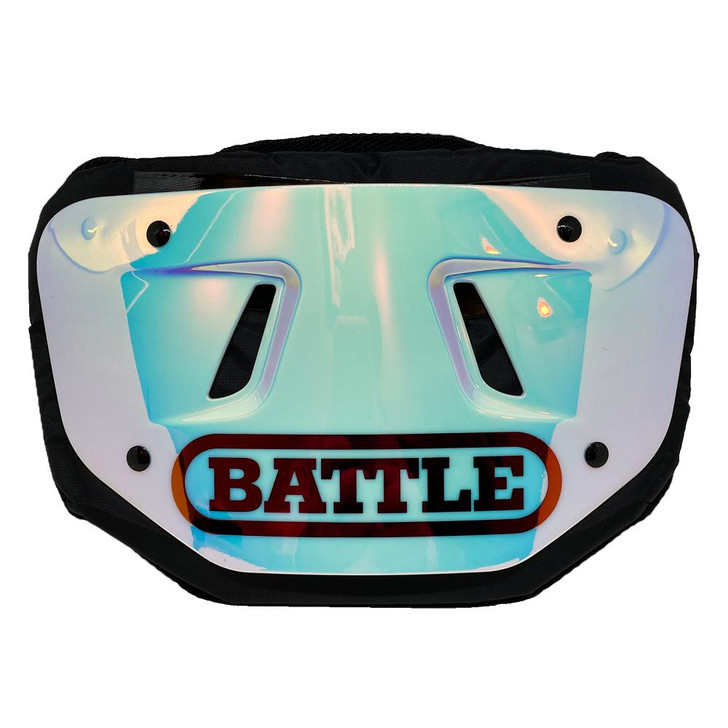 Battle Sports Iridescent Chrome Football Back Plate - Adult and Youth