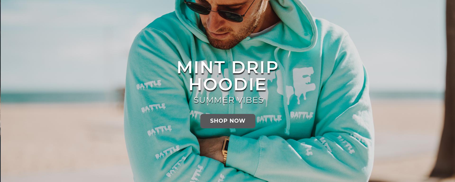 Mint Drip Hoodie