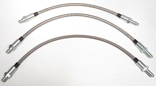 A.C. Ace & Aceca 1954-1962 3 Piece Stainless Steel Brake Hose Kit