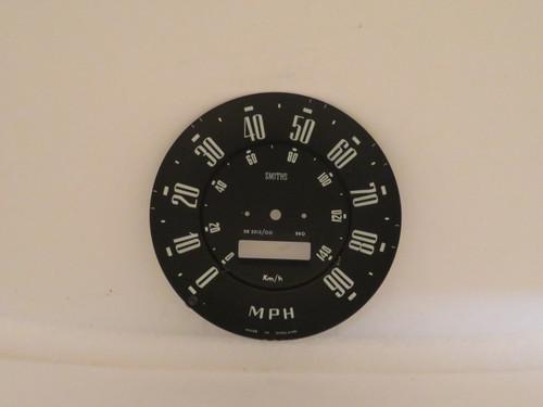 Hillman Minx Deluxe Series III & IIIA Speedometer Dial Face
