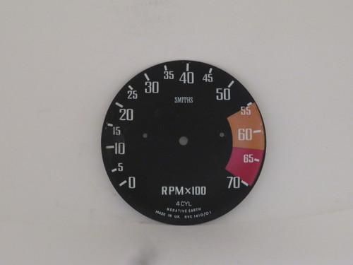 MG Midget Tachometer Dial Face Plate  RVC1410/01