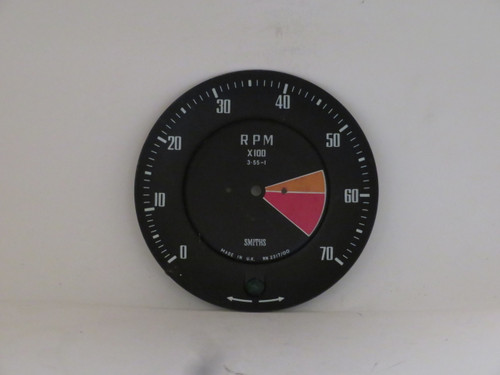Triumph GT6 MK1 Tachometer Dial Face Plate