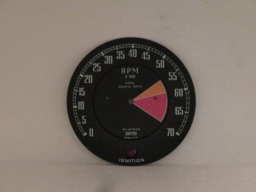 MGB Smiths Tachometer Dial Face Plate RVI2418/00