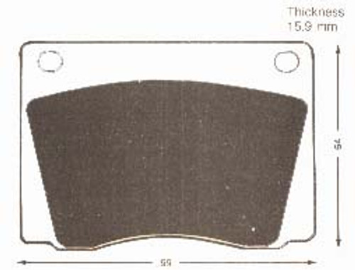 Fiat Dino & 1500 New Girling Front Brake Pad Set GP83