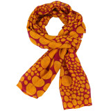 Women's red and yellow soft fashion scarf