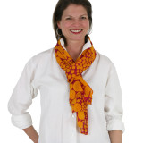 Ladies lightweight, soft fashion scarf red and yellow