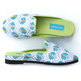 Dorset Blue canvas slippers