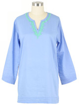 Embroidered women's lightweight cotton tunic