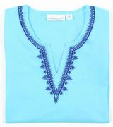 Carolina Aqua embroidered tunic
