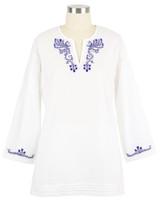 women's lightweight cotton tunic