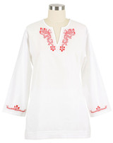 All cotton embroidered tunic