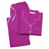 Cooper Plum long sleeve pajamas