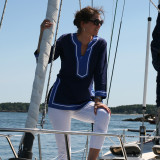 Seabury Navy/Cobalt ~ Cotton Poplin Tunic
