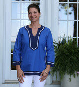 Seabury Cobalt/Navy ~ Cotton Poplin Tunic