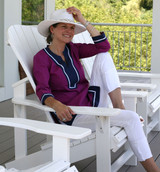 Seabury Plum/Navy ~ Cotton Poplin Tunic