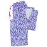 Women's soft and comfortable woven pure natural cotton poplin pyjamas. Not knit