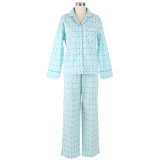 Women's long sleeve pjs in 100% cotton