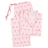 Boyfriend style women's long sleeve crisp poplin 100% cotton pajamas