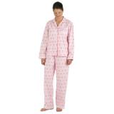 Women's long sleeve pink cotton pajamas