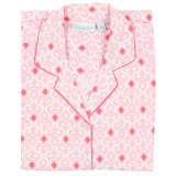Women's button-down nightshirt in 100% cotton