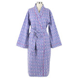 Women's shawl collar robe in all cotton