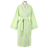 100% soft cotton women's shawl collar robe