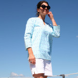 Womens 100%  cotton tunic top beach cover up