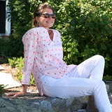 Pink tunic top for women 100% cotton