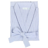 Women's classic shawl collar 100 percent cotton seersucker robe